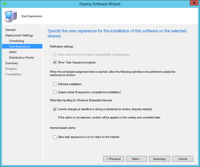SCCM Task Sequence Upgrade