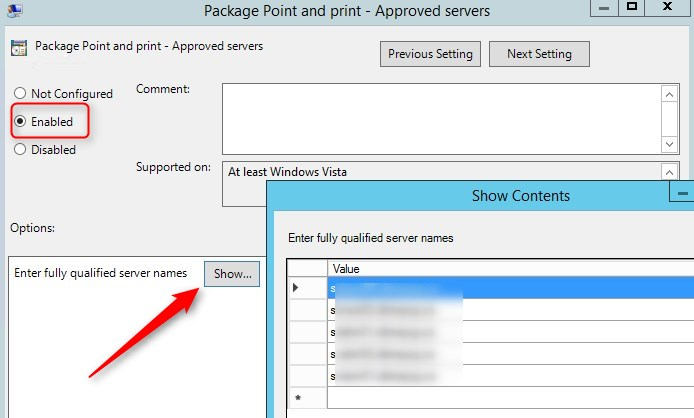 Windows 10 point print UAC
