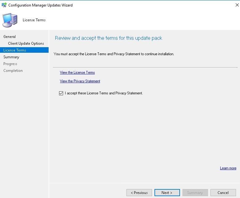 SCCM 1706 Update Rollup 1