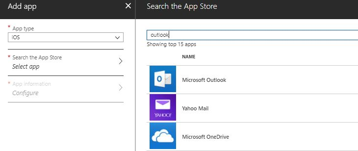 Intune iOS Mail Outlook app
